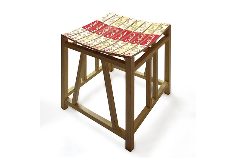 Egypt Up-cycled Stool